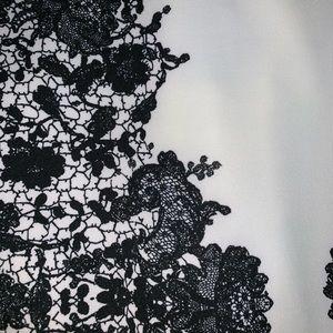 B Darlin Dresses - White and Black Form Fitting Juniors Formal Dress